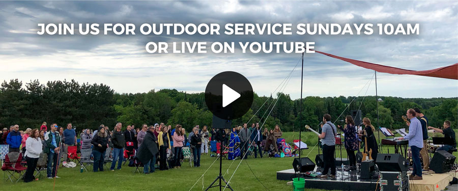 Join us for outdoor worship service Sundays 10am or live on YouTube.